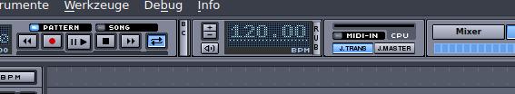 Songs aufnehmen: BPM bei Hydrogen einstellen